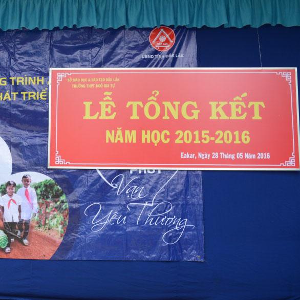 Lễ tổng kết năm học 2015 – 2016