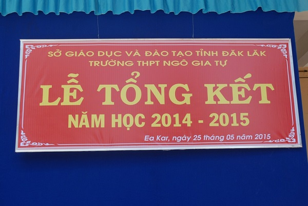 Lễ tổng kết năm học 2014 – 2015