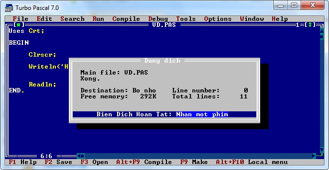 Turbo Pascal 7.0 VN 1